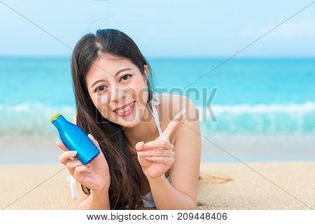 Closeup Of Pretty Pleasantly Lying On Beach