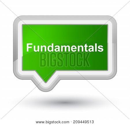 Fundamentals Prime Green Banner Button