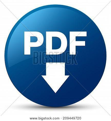 Pdf Download Icon Blue Round Button