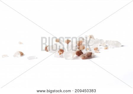 Crystals On White