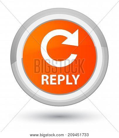 Reply (rotate Arrow Icon) Prime Orange Round Button