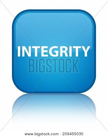 Integrity Special Cyan Blue Square Button