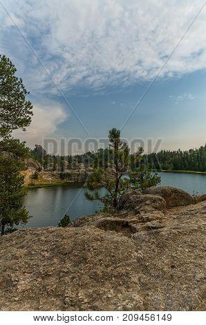 Sylvan Lake in South Dakota's Custer State Park. Near Mount Rushmore National Memorial
