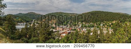 Panoramic view of legendary Deadwood South Dakota