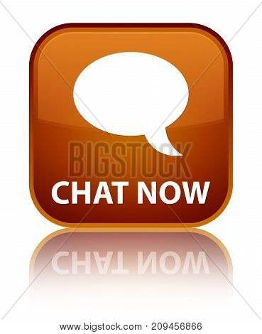 Chat Now Special Brown Square Button