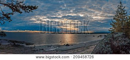 panorama of a beautiful decline on the seashore, Russia