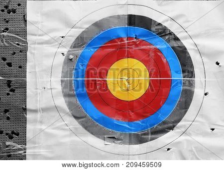 Target in archery club