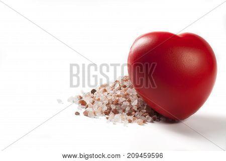 Isolated Heart And Salt