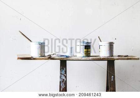 Paint buckets for house interior