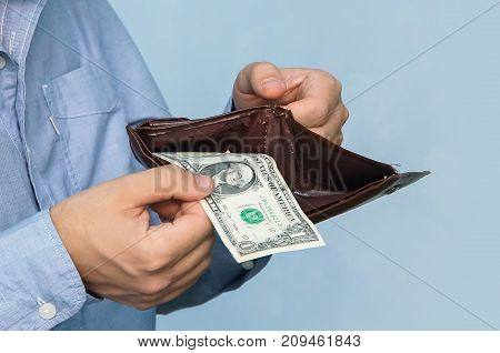 Close-up Purse With Dollars In Their Hands Business Man