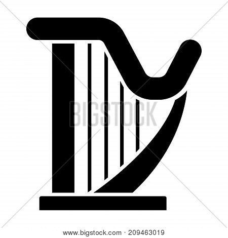 harp icon, illustration, vector sign on isolated background