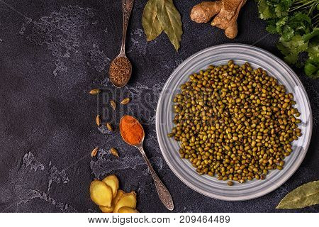 Mung Beans With Spices.