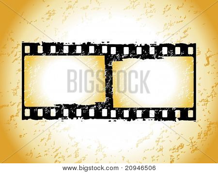 movie stripe frame isolated on grunge background
