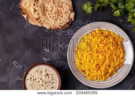 Saffron Rice With Spices.