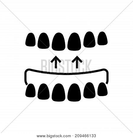 implanted teeth icon, illustration, vector sign on isolated background