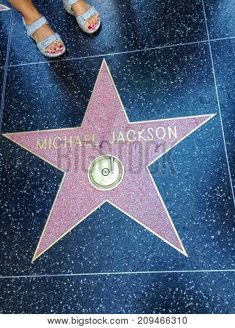 Michael Jackson Hollywood Walk Of Fame Star.