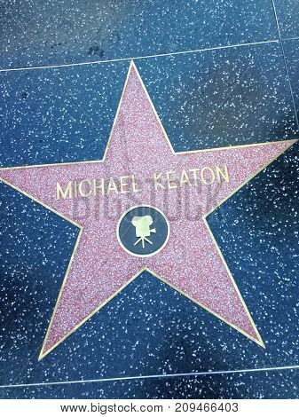 Michael Keaton Hollywood Walk Of Fame Star.