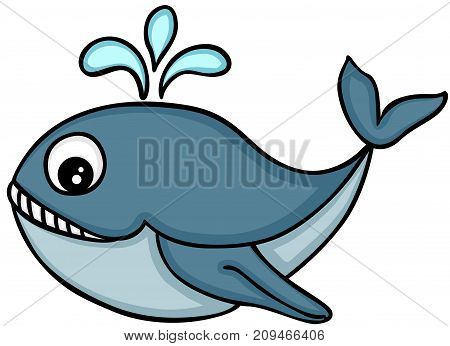 Scalable vectorial image representing a cute killer whale, isolated on white.
