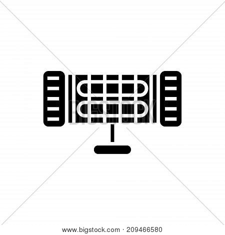 infrared heater icon, illustration, vector sign on isolated background