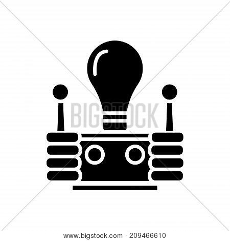 innovation icon, illustration, vector sign on isolated background