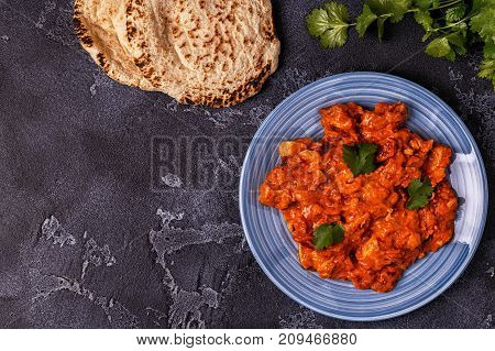 Traditional Indian Curry With Chicken.