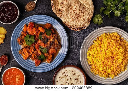 Traditional Indian Curry With Vegetables.