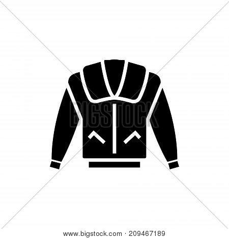 jacket icon, illustration, vector sign on isolated background