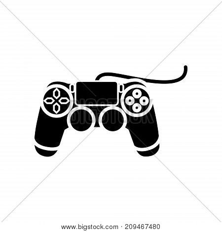 joystick console icon, illustration, vector sign on isolated background