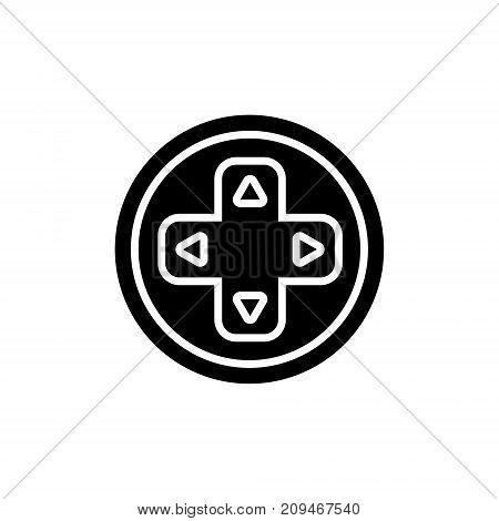 joystick round icon, illustration, vector sign on isolated background