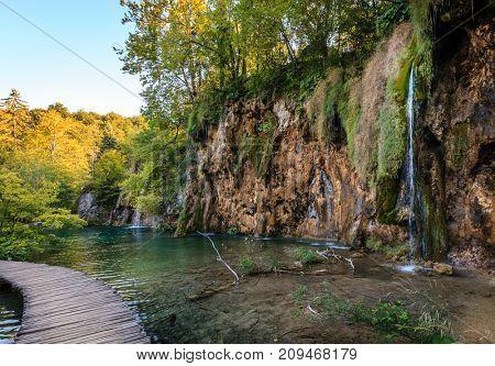 Evening in Plitvice Lakes National Park, Croatia