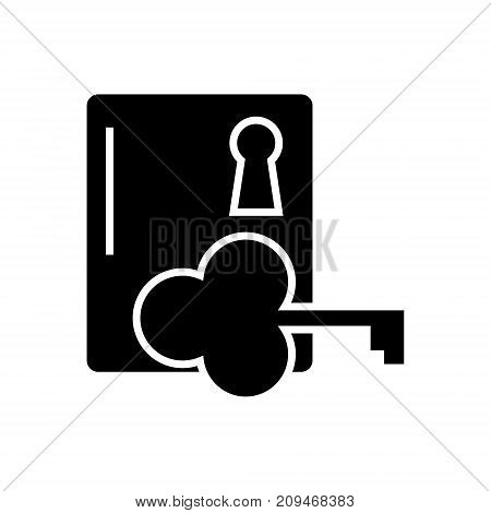 key to success icon, illustration, vector sign on isolated background
