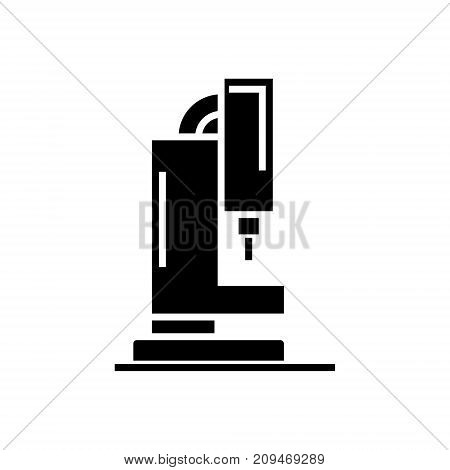 laser cutting machine icon, illustration, vector sign on isolated background
