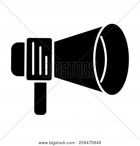 loudspeaker round icon, illustration, vector sign on isolated background