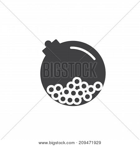 Gumballs in a round crystal bottle icon vector, filled flat sign, solid pictogram isolated on white. Symbol, logo illustration.