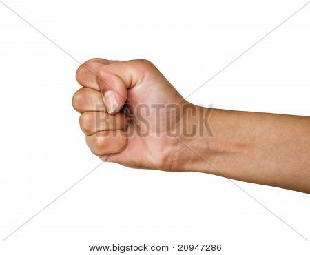 Fist on a white background