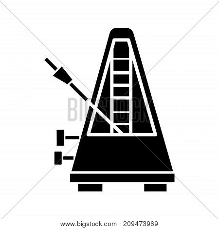 metronome icon, illustration, vector sign on isolated background