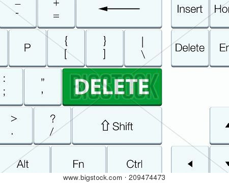 Delete Green Keyboard Button