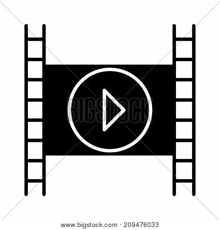 movie icon, illustration, vector sign on isolated background