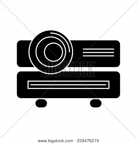 multimedia projector icon, illustration, vector sign on isolated background