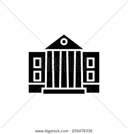 museum - parliament icon, illustration, vector sign on isolated background