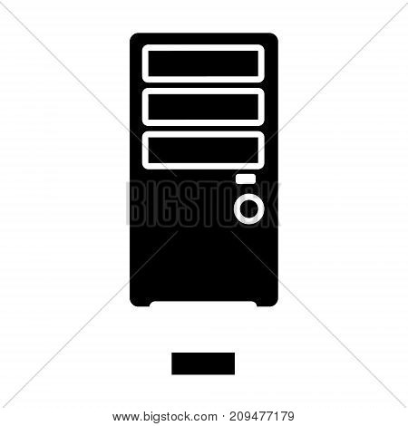 network server icon, illustration, vector sign on isolated background