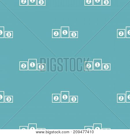 Podium pedestal pattern seamless blue. Simple illustration of  vector pattern seamless geometric repeat background
