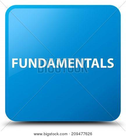 Fundamentals Cyan Blue Square Button