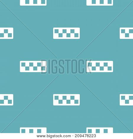 Taxi cab pattern seamless blue. Simple illustration of  vector pattern seamless geometric repeat background