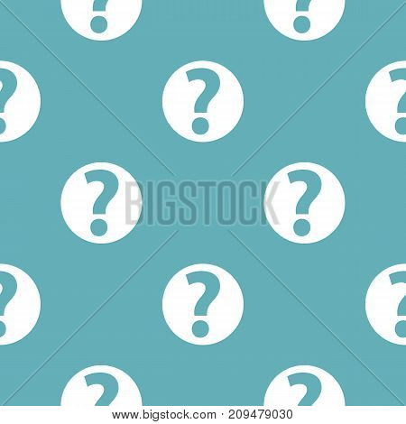Question mark sign pattern seamless blue. Simple illustration of  vector pattern seamless geometric repeat background