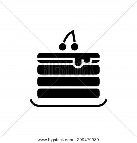 pancakes icon, illustration, vector sign on isolated background