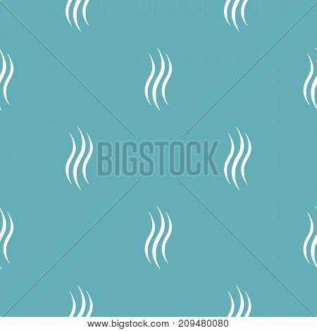 Smoke steam pattern seamless blue. Simple illustration of  vector pattern seamless geometric repeat background