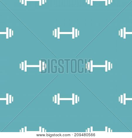 Barbell pattern seamless blue. Simple illustration of  vector pattern seamless geometric repeat background