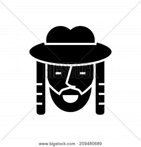 jewish icon, illustration, vector sign on isolated background