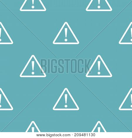 Warning sign pattern seamless blue. Simple illustration of  vector pattern seamless geometric repeat background